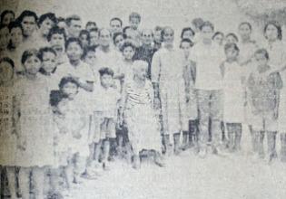 Nicolasa Arévalo (en el centro), la anciana de 126 años. Fotografía: Archivo Histórico del Atlántico.