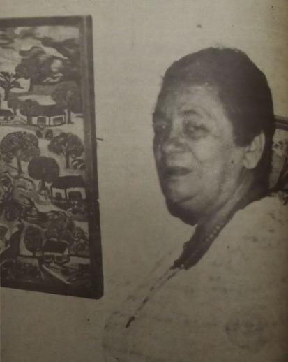 Rosa Delfina, la bordadora de sueños. Fotografía: Diario Vallenato (24/06/1983) y Archivo Histórico del Atlántico.